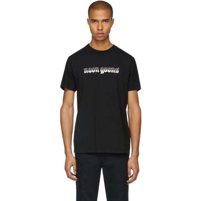 Image of Noon Goons Black Old English Logo T-Shirt