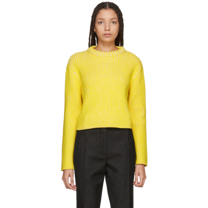 Image of Protagonist Yellow & White Melange Sweater