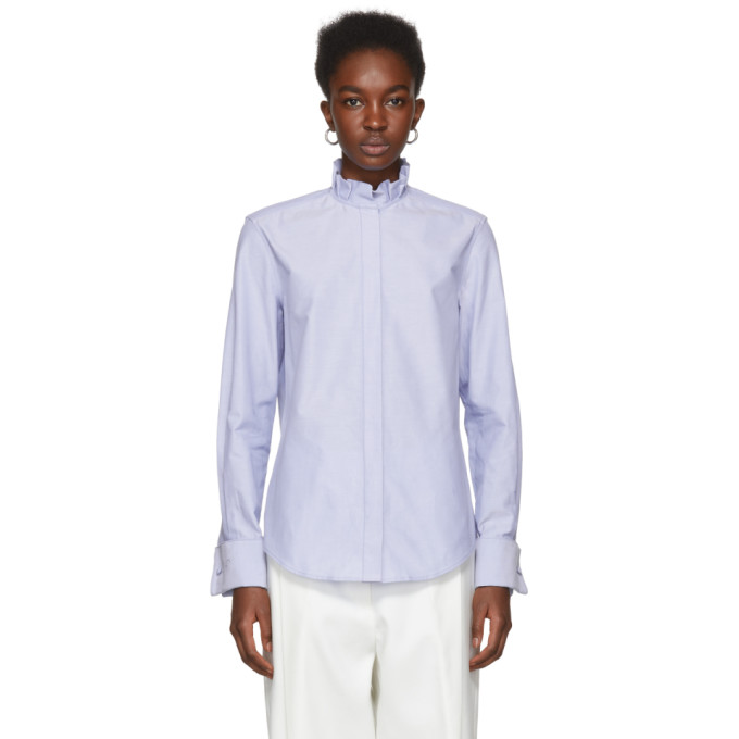 Image of Protagonist Blue Pleated Collar Shirt
