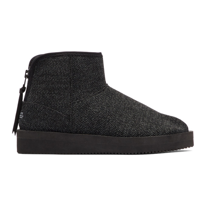 Image of Suicoke Black Toby Knit Boots