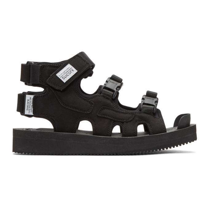 Image of Suicoke Black Boak-V Sandals