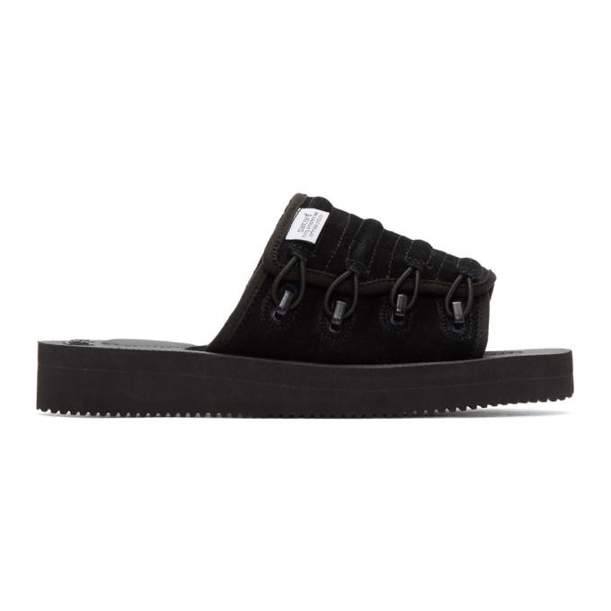 Suicoke Black Mura-VS Sandals