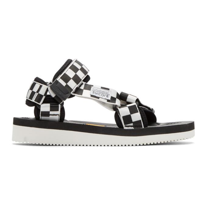 48d92f9af74 Suicoke Black and White Depa V2 Sandals