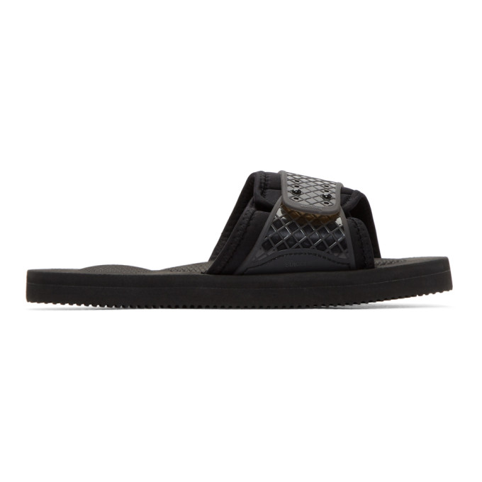 Image of Suicoke Black Siv Sandals