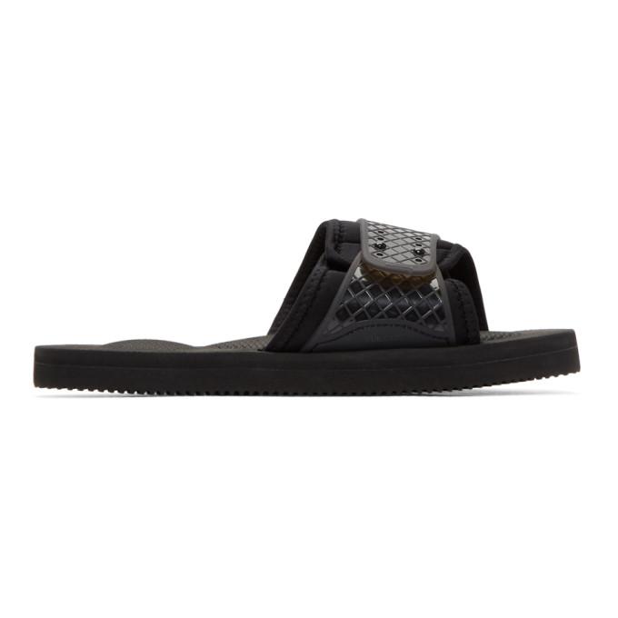 Suicoke Black Siv Sandals