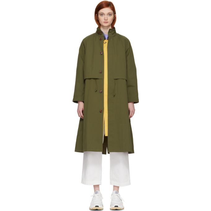 Image of Chimala Green Raglan Coat