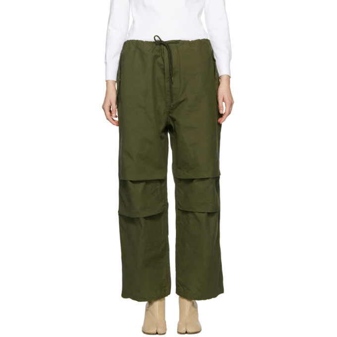 Image of Chimala Green Drawstring Cover Trousers