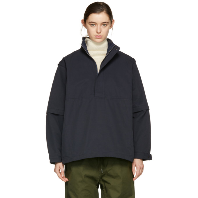 Image of Chimala Navy Detachable Sleeve Pullover Jacket