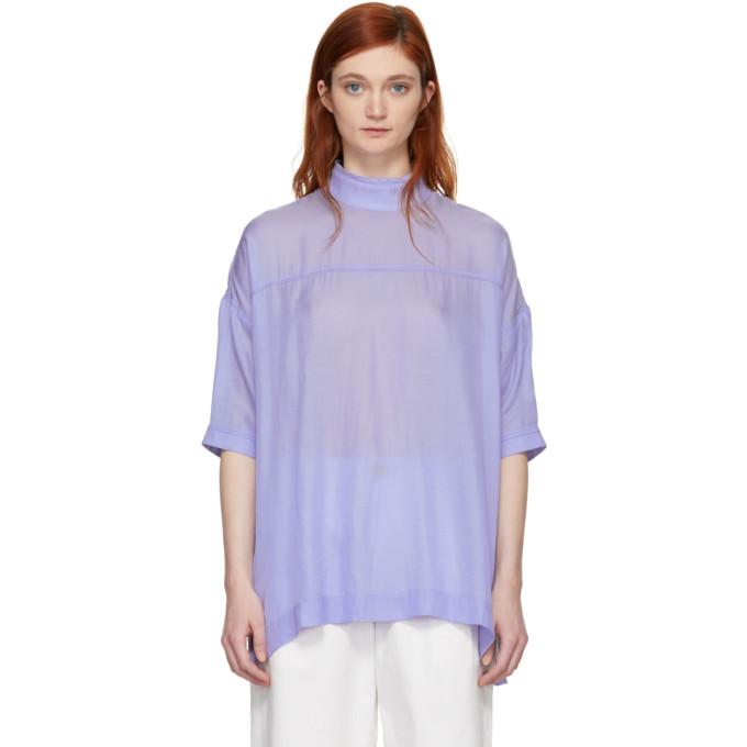 Image of Chimala Blue High Neck Blouse