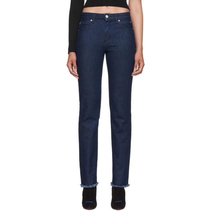 1017 ALYX 9SM Blue Pierced Jeans 181776F06900801