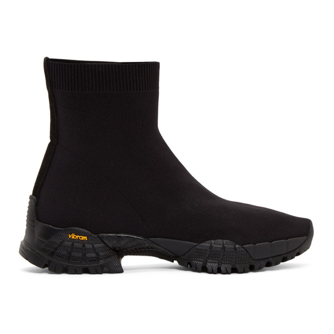 Image of Alyx Black Knit Hiking Boot High-Top Sneakers
