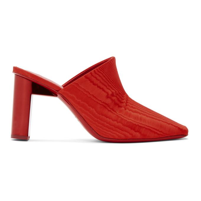 1017 Alyx 9SM Red Olga Anklet Heels