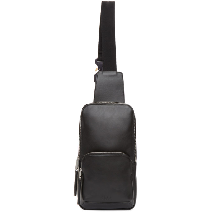 Alyx Black Small Leather Backpack