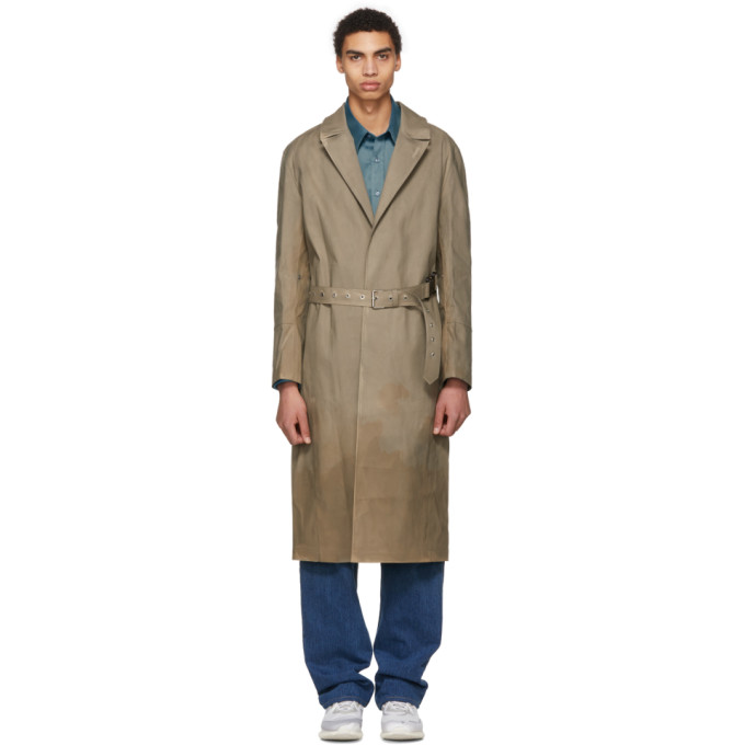 1017 Alyx 9SM Beige Mackintosh Edition Formal Coat