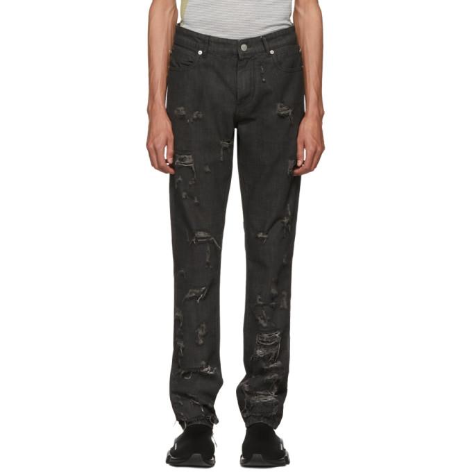 Alyx Black Distressed Jeans