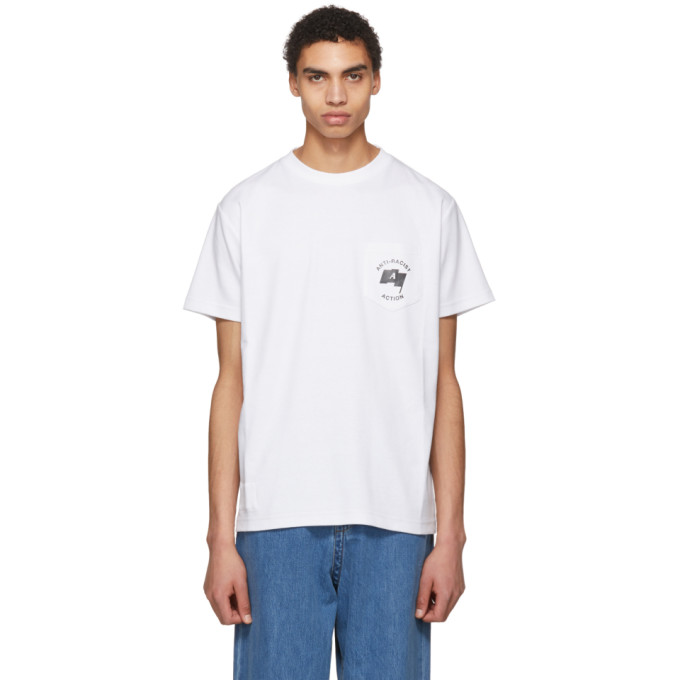 Alyx White Anti-Racist Pocket T-Shirt