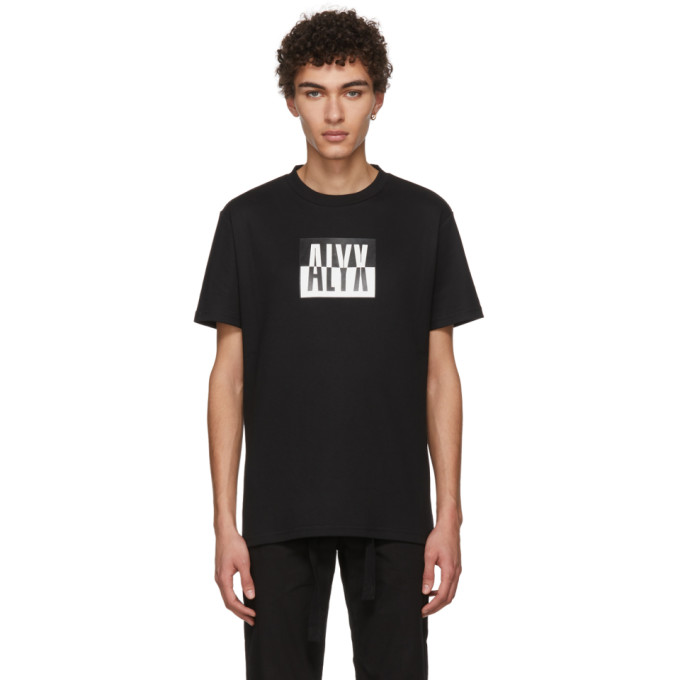 1017 Alyx 9SM Black Colorblock Logo T Shirt