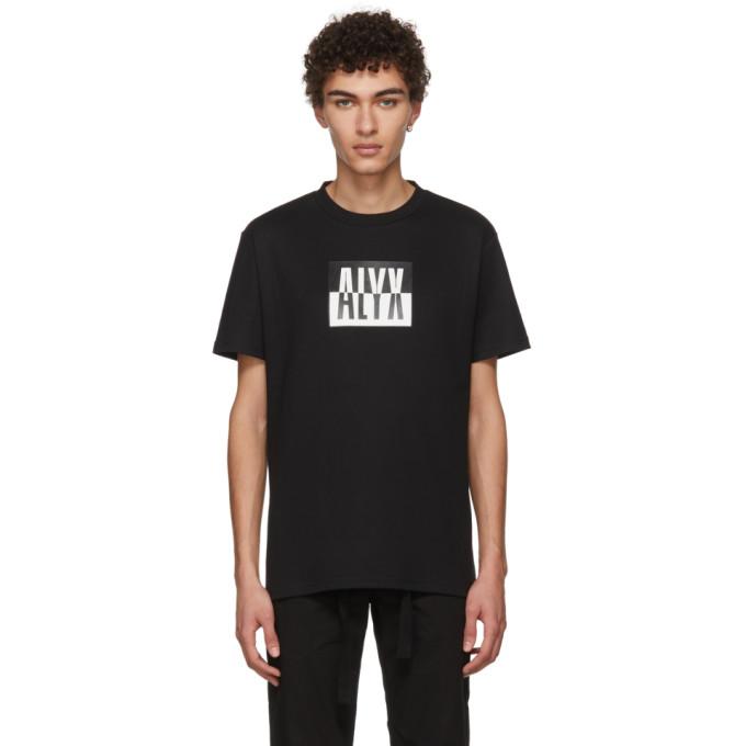 Image of Alyx Black Colorblock Logo T-Shirt