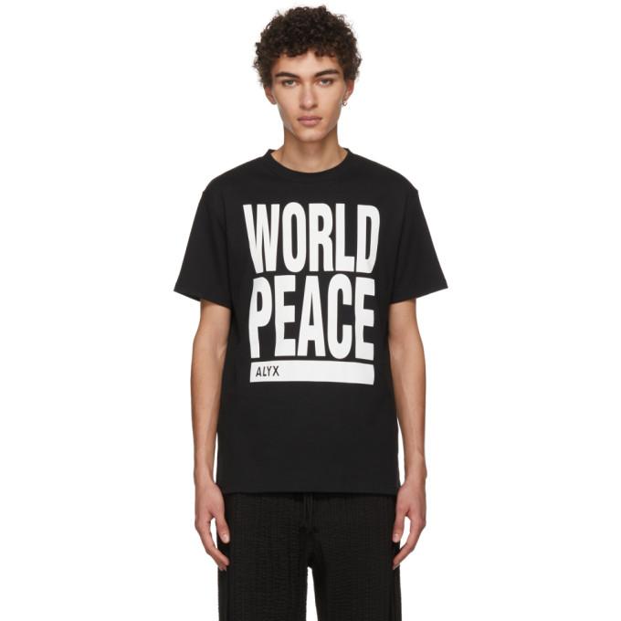 1017 Alyx 9SM Black World Peace T Shirt