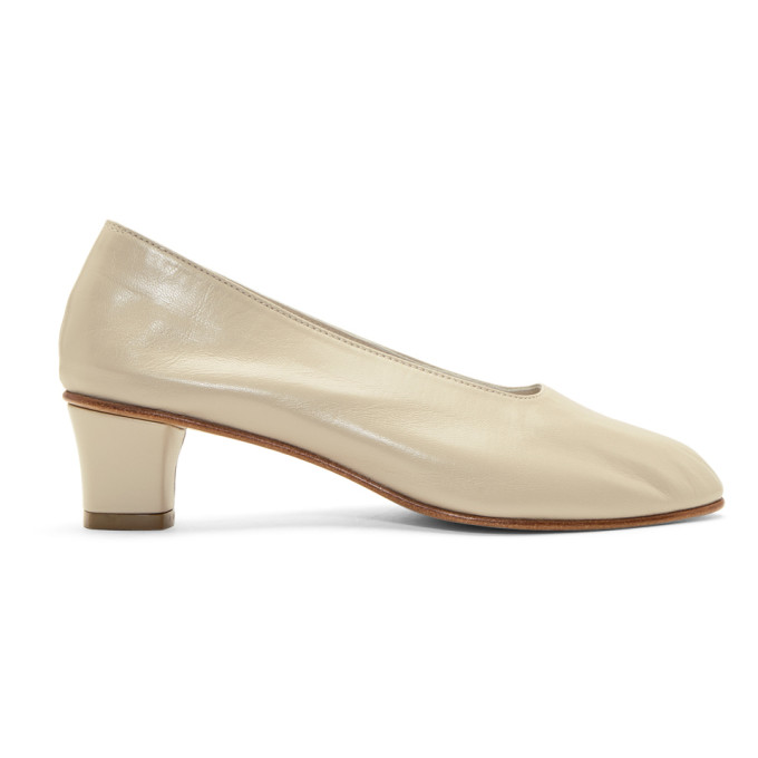 Image of Martiniano Beige High Glove Heels