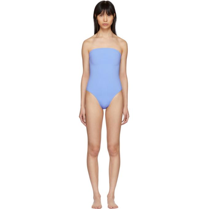 Maryam Nassir Zadeh Blue 1831 Plaza Strapless Swimsuit