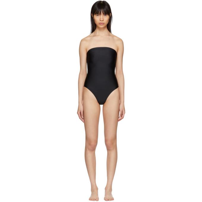 Maryam Nassir Zadeh Black 1831 Plaza Strapless Swimsuit