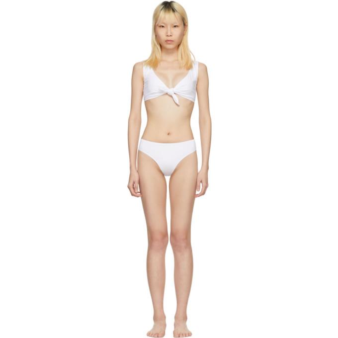 Maryam Nassir Zadeh White Patina Bikini