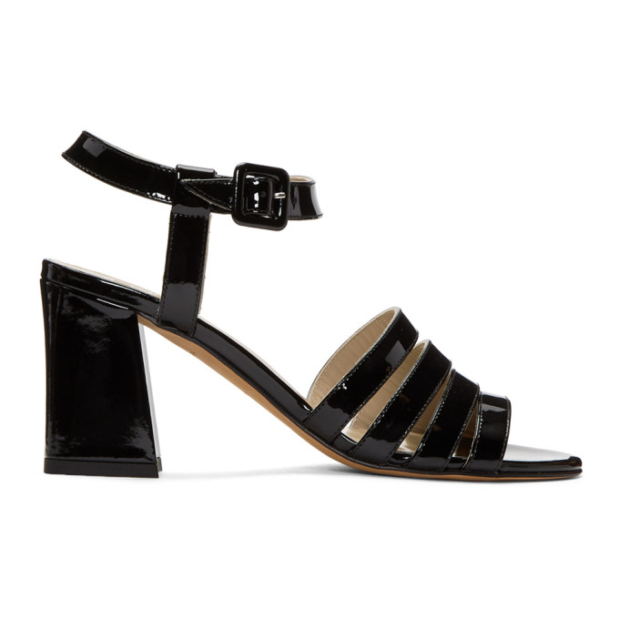 Image of Maryam Nassir Zadeh Black Patent Palma High Sandals