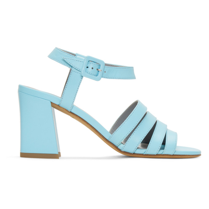 Image of Maryam Nassir Zadeh Blue Palma High Sandals