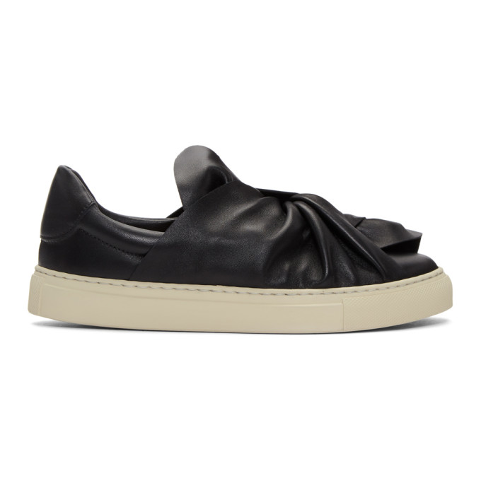 Image of Ports 1961 Black Bow Slip-On Sneakers