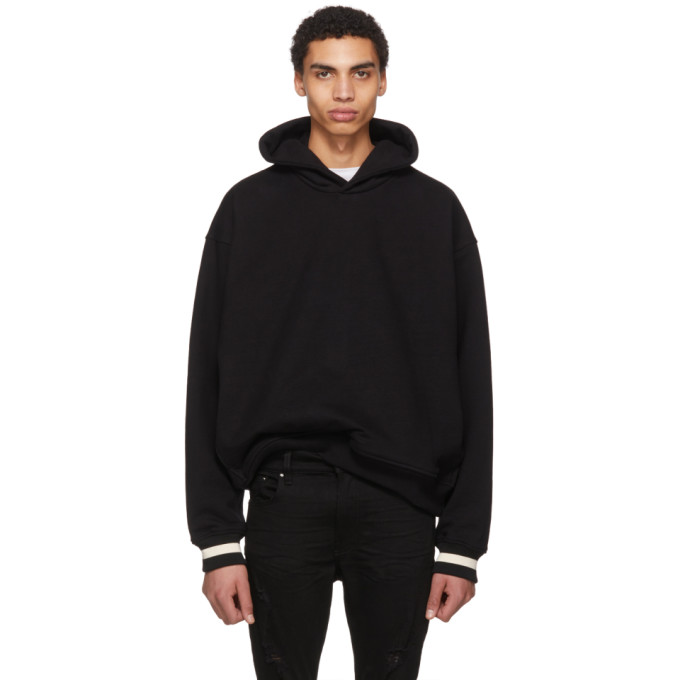 Image of Fear of God Black Heavy Terry Everyday Hoodie