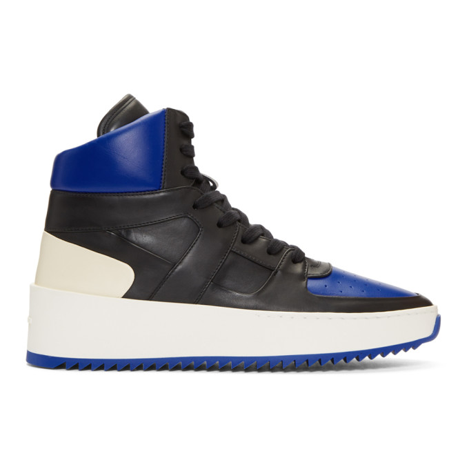Image of Fear of God Black & Blue B-Ball High-Top Sneakers
