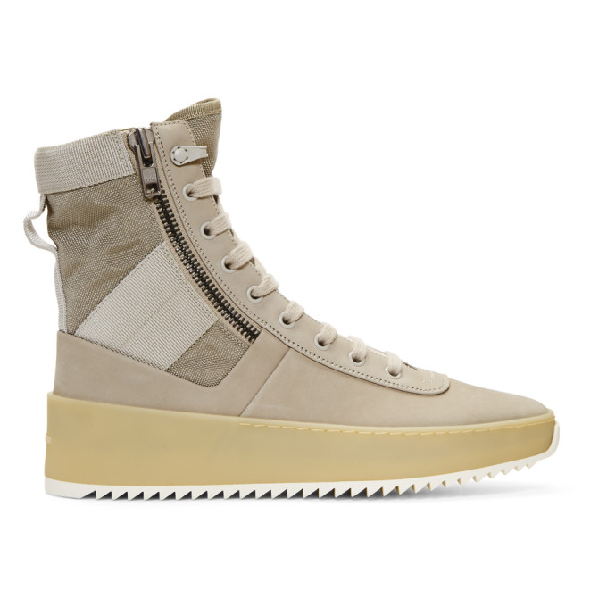 Fear of God Grey Jungle High-Top Sneakers