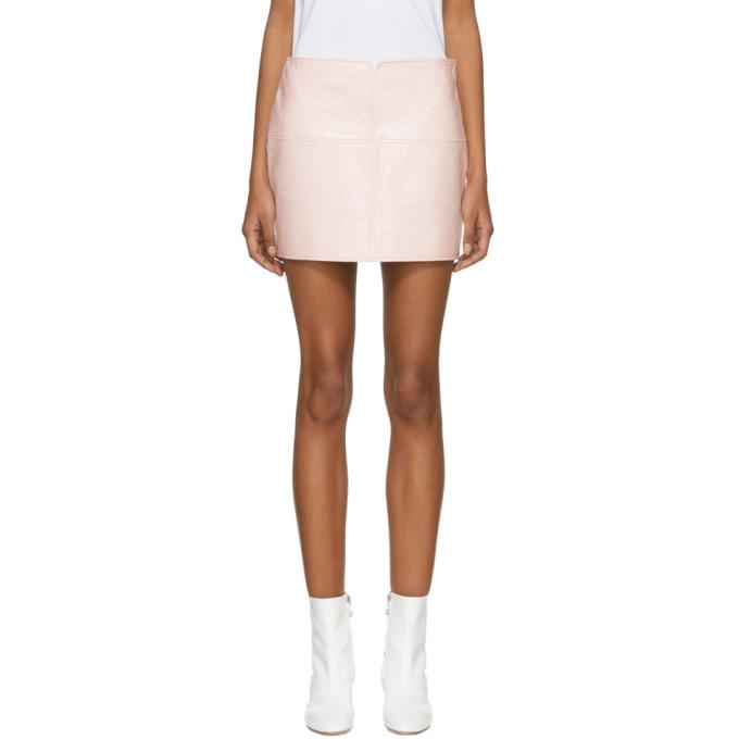 Courrèges Pink Vinyl Miniskirt
