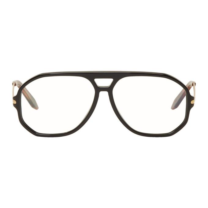 Image of Victoria Beckham Black Navigator Glasses