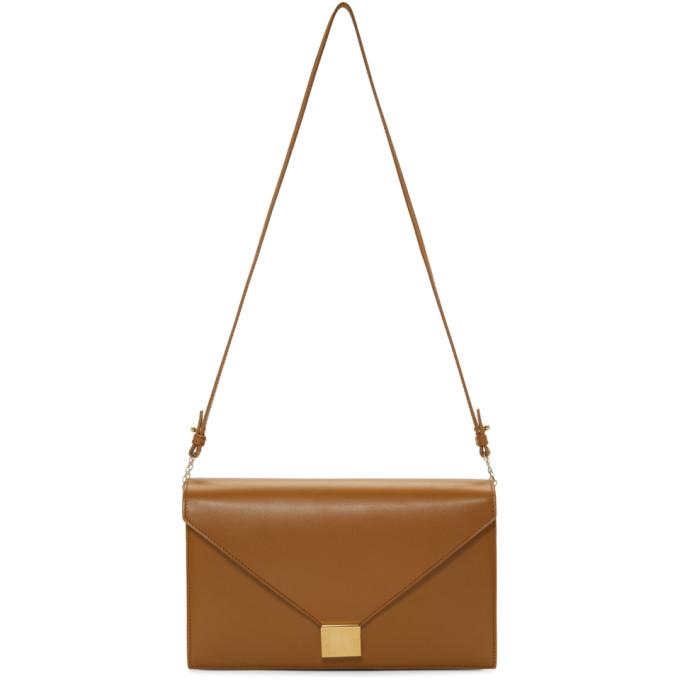 Victoria Beckham Brown Envelope Chain Bag