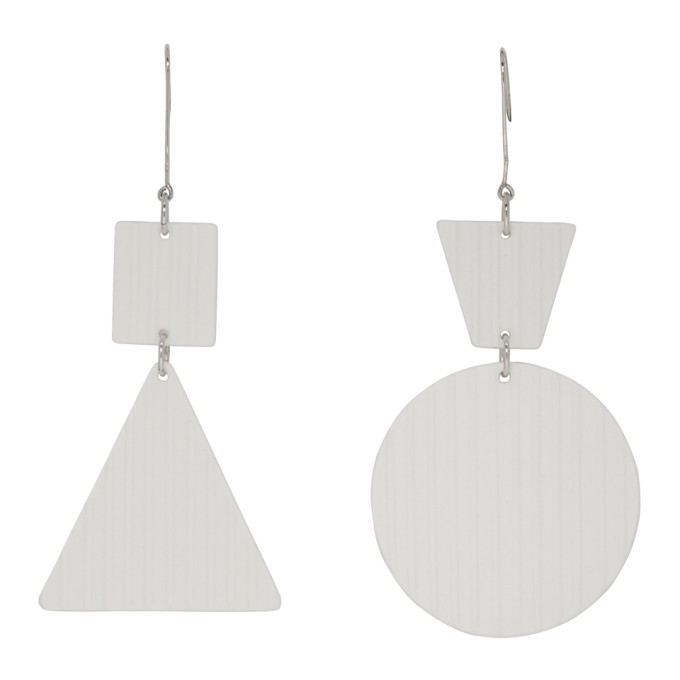 Image of Sara Lanzi White Porcelain Earrings