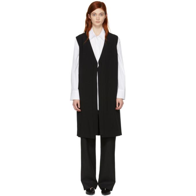 Image of Sara Lanzi Black Tie Long Vest