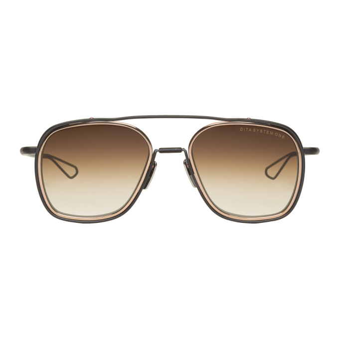 Image of Dita Brown & Gold System One Sunglasses