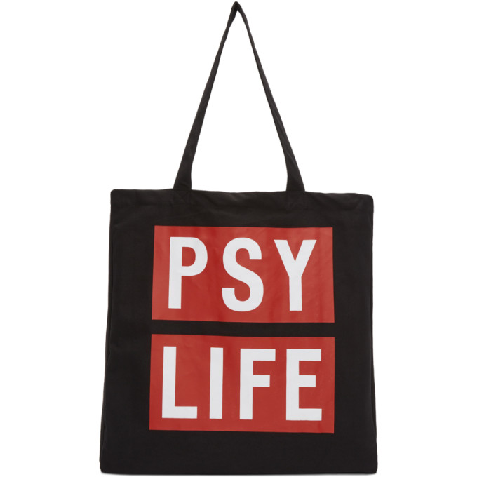 Image of Perks and Mini Black 'Psy Life' Tote