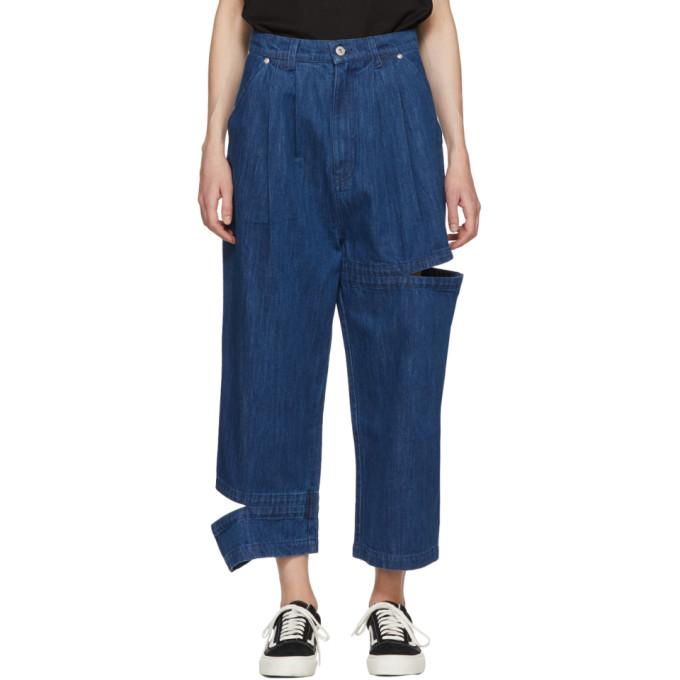 Perks and Mini SSENSE Exclusive Indigo Perspective Bri Bri Wide-Leg Jeans