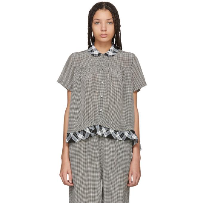 Image of Tricot Comme des Garçons White & Black Mix Check Shirt