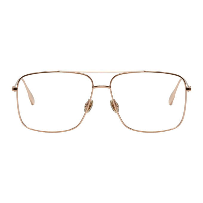 Image of Dior Gold Stellaire 3 Aviator Glasses
