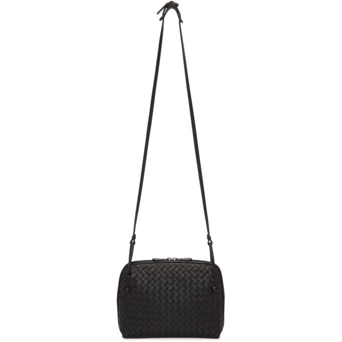 Bottega Veneta Black Intrecciato Nodini Messenger Bag