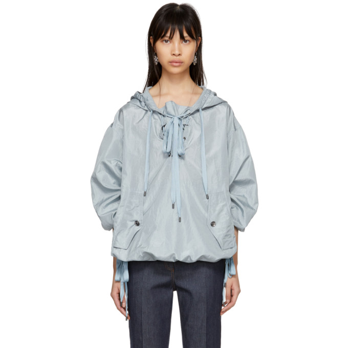 Bottega Veneta Blue Silk Taffeta Jacket