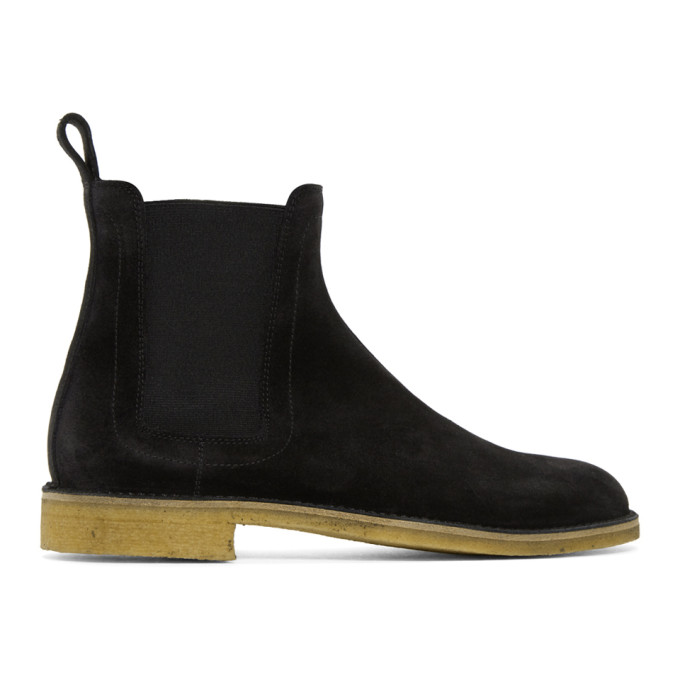 Image of Bottega Veneta Black Classic Chelsea Boots