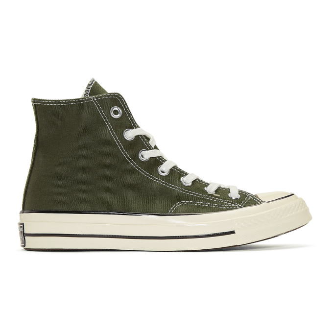 Converse Green Chuck Taylor Canvas Vintage High-Top Sneakers