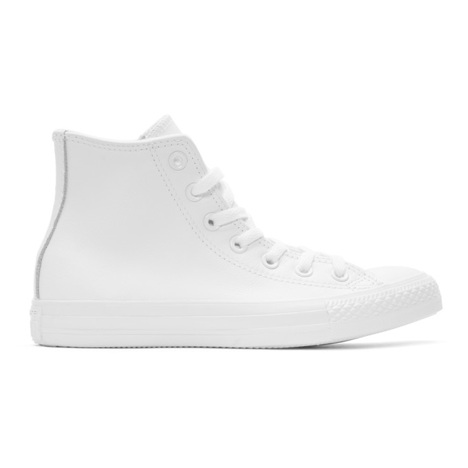 Converse White Leather Chuck Taylor All-Star High-Top Sneakers