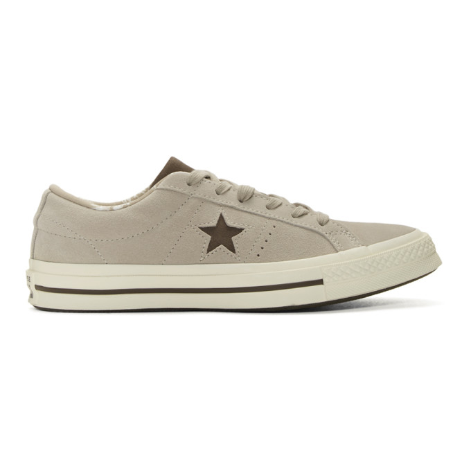 Image of Converse Beige Suede One Star Sneakers