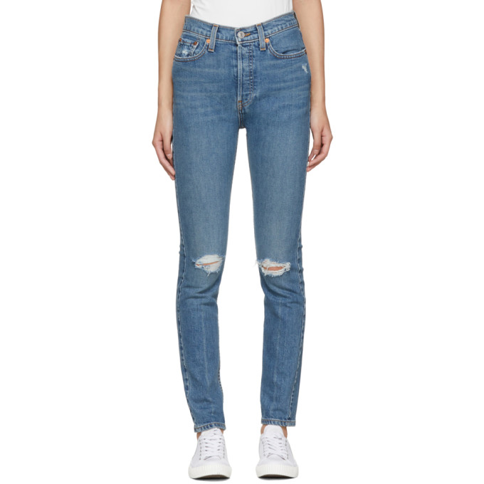 Re/Done Blue Originals High-Rise Stretch Jeans
